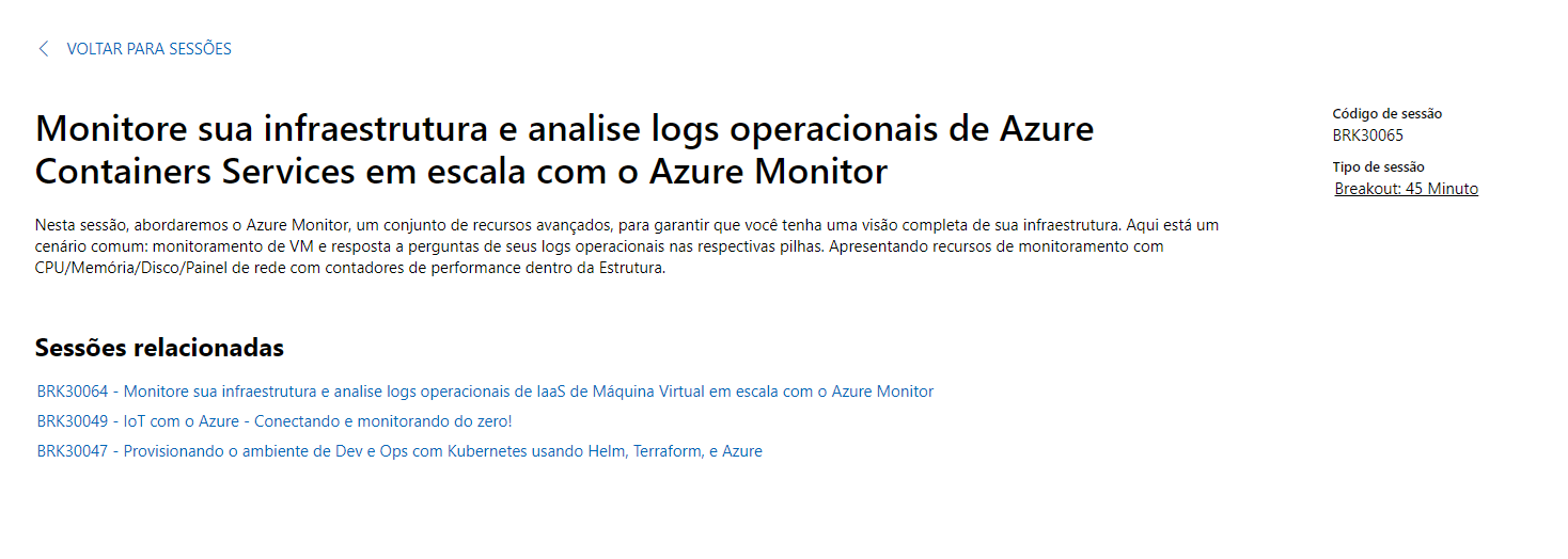 Palestra Ignite 2019 – Containers Services com Azure Monitor